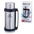 Термос WALTZ (ВАЛЬЦ) классический с узким горлом, 2,6 л, нержавеющая сталь, пластиковая ручка