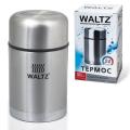Термос WALTZ (ВАЛЬЦ) универсальный с широким горлом, 0,8 л, нержавеющая сталь