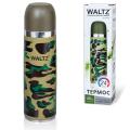 Термос WALTZ (ВАЛЬЦ) с узким горлом, 0,5 л, нержавеющая сталь, хаки