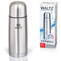 Термос WALTZ (ВАЛЬЦ) классический с узким горлом, 0,35 л, нержавеющая сталь