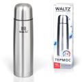 Термос WALTZ (ВАЛЬЦ) классический с узким горлом, 0,75 л, нержавеющая сталь