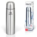 Термос WALTZ (ВАЛЬЦ) классический с узким горлом, 1 л, нержавеющая сталь