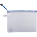 "Папка-конверт на молнии BRAUBERG ""Segment"", А5, 238*180 мм, ПВХ, сетка, 200 мкм, прозрачная, 223887"