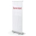 Стенд мобильный для баннера «Роллскрин 2(80)», размер рекламного поля 800-2000 мм, алюминий