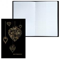 Блокнот BRAUBERG (БРАУБЕРГ), А5, 135-206 мм, 80 л., «My Love» («Любовь»), твердая ламинированная обложка, фольга, клетка
