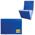 Папка на резинках BRAUBERG (БРАУБЕРГ), А4, 6 отделений, пластиковый индекс, синяя, 0,5 мм