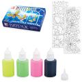 Набор для творчества ЛУЧ, краски по стеклу «Витраж светящийся»: 6 цветов, 135 г, шаблоны-рисунки