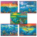Альбом д/рис. 12л. HATBER VK, обл.офсет, 100г/м, Дельфины (5 видов), 12А4C(A069936)