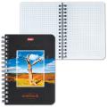 Записная книжка, А6, 105-145 мм, 140 л., «Хатбер», гребень, обложка мелованный картон, «Пейзажи»