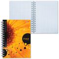 Записная книжка, А6, 105-145 мм, 80 л., «Хатбер», гребень, обложка мелованный картон, «iFRESH»