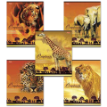 Тетрадь 80 л. «Хатбер», линия, обложка мелованный картон, «Саванна»