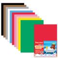 Цветная пористая резина (фоамиран) для творчества А4, толщина 2мм, BRAUBERG 10л. 10цв, яркие цвета