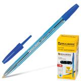 Ручка шариковая BRAUBERG Carina Blue, корпус тонированный синий, 1мм, линия 0,4мм, синяя, 141669