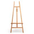 Мольберт напольный BRAUBERG, бук, угол 60°, размер 61х152х67см, высота холста 126см, 190653