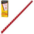 Пружины пластиковые для переплета BRAUBERG, КОМПЛЕКТ 100шт, 10 мм (для сшивания 41-55л), красные, 530910