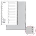 Разделитель пластиковый ERICH KRAUSE для папок А4, цифровой 1-31, с ламинированным оглавлением
