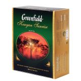 Чай GREENFIELD «Kenyan Sunrise» («Рассвет в Кении»), черный, 100 пакетиков в конвертах по 2 г