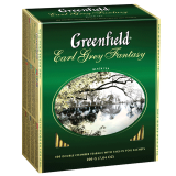 Чай GREENFIELD «Earl Grey Fantasy», черный с бергамотом, 100 пакетиков в конвертах по 2 г