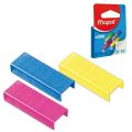 Скобы для степлера №10, 800 штук, цветные, MAPED (Франция), до 20 листов, 324706