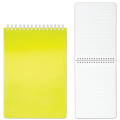 Блокнот А5, 145-205 мм, 80 л., «Хатбер», гребень, пластиковая обложка, «DIAMOND-желтый»