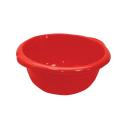 Таз 10л хозяйственный, круглый, с ручками, пластиковый, (в15*ш40*г43см), цвет красный, IDEA, М 2506
