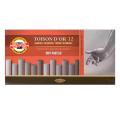 """Пастель художеств. KOH-I-NOOR """"Toison D'or"""", 12 цв, мягкий, оттенки серого, круглое сечение, картонная коробка"""