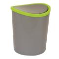 Ведро-контейнер 1,6л для мусора IDEA, настольный, качающаяся крышка, (в17*диам. 13см), серое, М 2490