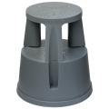 Лестница-тумба 43см, 2 ступени, передвижная, пластиковая, нагрузка до 150 кг, серая, РОССИЯ