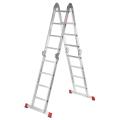 Лестница-трансформер 4х4 ступеней, высота 4,52 м, (4 секции по 1,2 м) алюминиевая, вес 16,5 кг