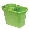Ведро 9,5л с отжимом IDEA, пластиковое, цвет зеленый, (моп 602584,-585), М 2421