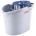 """Ведро VILEDA """"Супер-моп"""", с системой отжима для веревочных и ленточных МОПов, овальное, объем 10л"""
