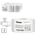 Бумага туалетная 170м, VEIRO Professional (Система T2), КОМПЛЕКТ 12шт, Comfort, 2-сл, T204
