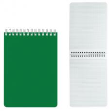 Блокнот А5 60л., гребень, лакированная обл., HATBER, Зелёный, 145*212мм
