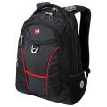 Рюкзак WENGER (Швейцария), черный, красные полосы, 30 литров, 35*20*47 см, 1178215