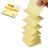 Блок самоклеящийся POST-IT (Z-блок), 76-76 мм, 100 л., желтый (3М, США)