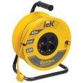 Удлинитель на катушке IEK (ИЕК) INDUSTRIAL, ГОСТ Р51539, 4 розетки, 40м, 3х1мм, 2200Вт, с зазем.