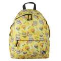 Рюкзак BRAUBERG (БРАУБЕРГ) универсальный, сити-формат, желтый, Совушки в цветах, 20 литров, 41*32*14 cм