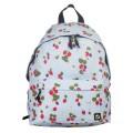 Рюкзак BRAUBERG (БРАУБЕРГ) универсальный, сити-формат, бежевый, Ягоды, 20 литров, 41*32*14 cм