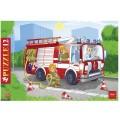 Пазл в рамке 12 элементов, А4, Пожарная машина, 200*300мм, 12ПЗ4_09342 (U102107)