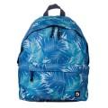 Рюкзак BRAUBERG (БРАУБЕРГ) универсальный, сити-формат, синий, Пальмы, 20 литров, 41*32*14 cм