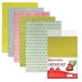 Цветной фетр для творчества А4 210*297мм BRAUBERG с рис., 5л.5цв, толщ.2мм, Веселая геометрия,660652