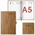 "Ежедневник 2018, А5, BRAUBERG ""Wood"", благородное дерево, коричневый, 168 л., 138х213 мм"