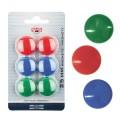 Магниты KOH-I-NOOR, диаметр 25 мм, 6 шт., цвет ассорти, в блистере, 9600200225BL
