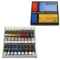 Краски акриловые художественные BRAUBERG 18 цветов по 12 мл, профессиональная серия, в тубах, 191123