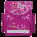 Ранец жесткокаркасный TIGER FAMILY (ТАЙГЕР) для нач.школы, для девочек, малиновый, Бабочки, 37*34*20 см, 11116B