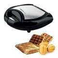 Тостер-вафельница SCARLETT SL-TM11501, мощ 700Вт, 2 тоста, мех управл., пластик, черн