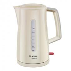 Чайник BOSCH TWK3A017, 1,7л, 2400Вт, закрытый нагревательный элемент, пластик, бежевый