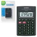 Калькулятор CASIO карманный HL-4A-S, 8 разрядов, питание от батар-и, 87х56х8,8 мм, блист, черный