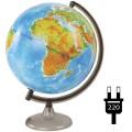 Глобус физико-политический Глобусный мир, 32см, с подсветкой на круглой подставке, 10095