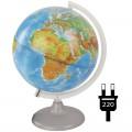 Глобус физико-политический Глобусный мир, 25см, с подсветкой на круглой подставке, 10166
